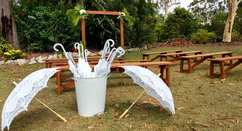 wedding parasols and umbrellas