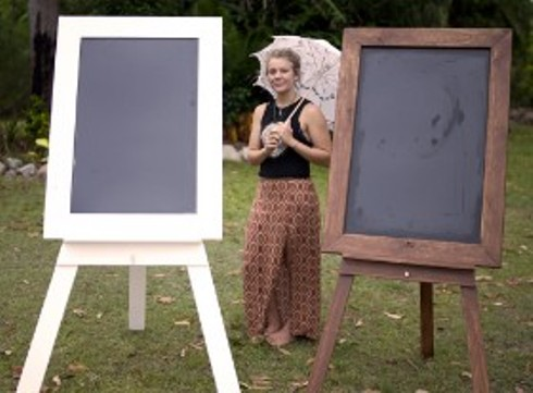 wedding signs easels