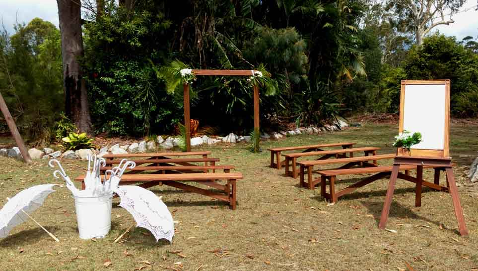 wedding benches for hire